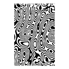 Psychedelic Zebra Black White Shower Curtain 48  X 72  (small)