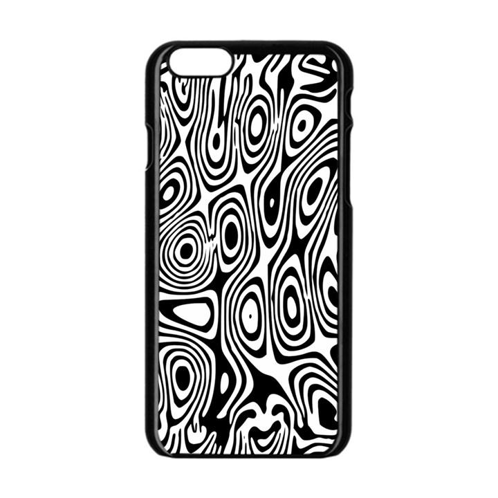 Psychedelic Zebra Black White Apple iPhone 6/6S Black Enamel Case