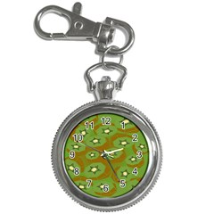 Relativity Pattern Moon Star Polka Dots Green Space Key Chain Watches