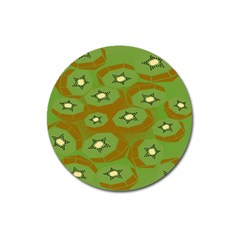 Relativity Pattern Moon Star Polka Dots Green Space Magnet 3  (round)