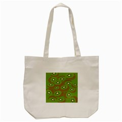Relativity Pattern Moon Star Polka Dots Green Space Tote Bag (cream)