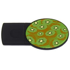Relativity Pattern Moon Star Polka Dots Green Space Usb Flash Drive Oval (4 Gb)