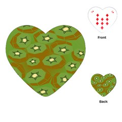 Relativity Pattern Moon Star Polka Dots Green Space Playing Cards (heart)