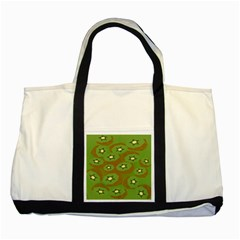 Relativity Pattern Moon Star Polka Dots Green Space Two Tone Tote Bag