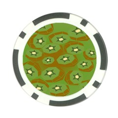 Relativity Pattern Moon Star Polka Dots Green Space Poker Chip Card Guard