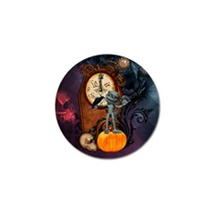 Funny Mummy With Skulls, Crow And Pumpkin Golf Ball Marker (4 Pack)