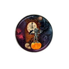 Funny Mummy With Skulls, Crow And Pumpkin Hat Clip Ball Marker (10 Pack)