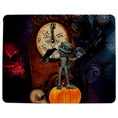 Funny Mummy With Skulls, Crow And Pumpkin Jigsaw Puzzle Photo Stand (rectangular)