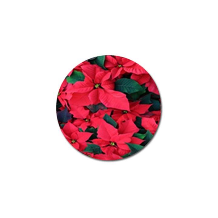 Red Poinsettia Flower Golf Ball Marker (10 pack)