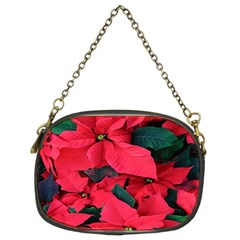 Red Poinsettia Flower Chain Purses (two Sides)