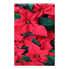 Red Poinsettia Flower Shower Curtain 48  X 72  (small)