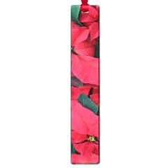 Red Poinsettia Flower Large Book Marks