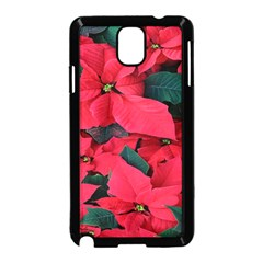 Red Poinsettia Flower Samsung Galaxy Note 3 Neo Hardshell Case (black)