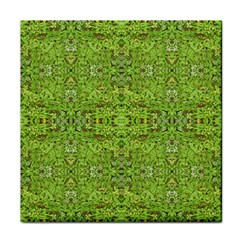 Digital Nature Collage Pattern Tile Coasters