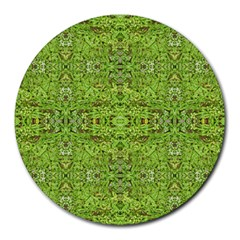 Digital Nature Collage Pattern Round Mousepads