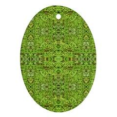 Digital Nature Collage Pattern Ornament (oval)
