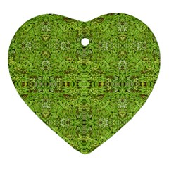 Digital Nature Collage Pattern Ornament (heart)