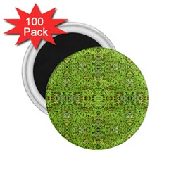 Digital Nature Collage Pattern 2 25  Magnets (100 Pack)