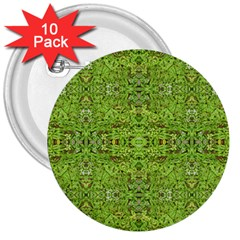 Digital Nature Collage Pattern 3  Buttons (10 Pack)