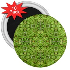 Digital Nature Collage Pattern 3  Magnets (10 Pack)