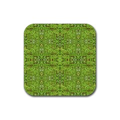Digital Nature Collage Pattern Rubber Coaster (square)
