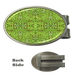 Digital Nature Collage Pattern Money Clips (oval)
