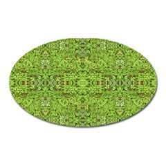 Digital Nature Collage Pattern Oval Magnet