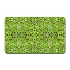 Digital Nature Collage Pattern Magnet (rectangular)