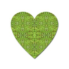 Digital Nature Collage Pattern Heart Magnet