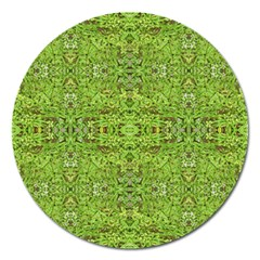 Digital Nature Collage Pattern Magnet 5  (round)
