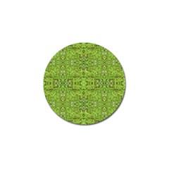Digital Nature Collage Pattern Golf Ball Marker (4 Pack)