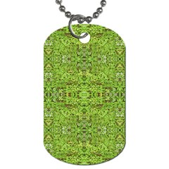 Digital Nature Collage Pattern Dog Tag (two Sides)