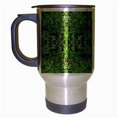 Digital Nature Collage Pattern Travel Mug (silver Gray)