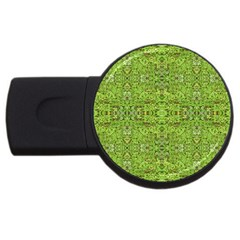Digital Nature Collage Pattern Usb Flash Drive Round (4 Gb)
