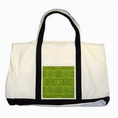 Digital Nature Collage Pattern Two Tone Tote Bag