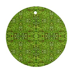 Digital Nature Collage Pattern Round Ornament (two Sides)