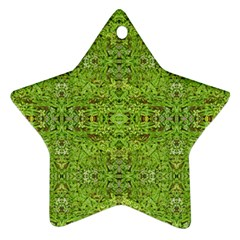 Digital Nature Collage Pattern Star Ornament (two Sides)