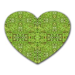 Digital Nature Collage Pattern Heart Mousepads