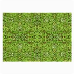 Digital Nature Collage Pattern Large Glasses Cloth