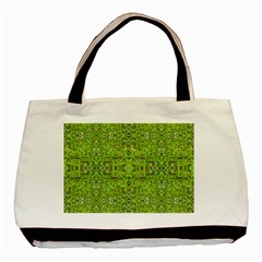 Digital Nature Collage Pattern Basic Tote Bag (two Sides)