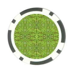 Digital Nature Collage Pattern Poker Chip Card Guard