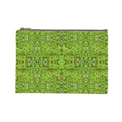 Digital Nature Collage Pattern Cosmetic Bag (large)