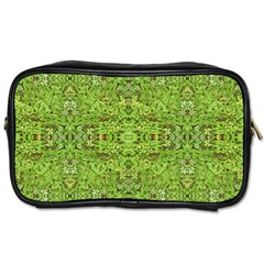 Digital Nature Collage Pattern Toiletries Bags 2 Side