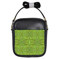 Digital Nature Collage Pattern Girls Sling Bags