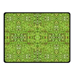Digital Nature Collage Pattern Fleece Blanket (small)