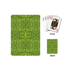 Digital Nature Collage Pattern Playing Cards (mini)