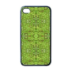 Digital Nature Collage Pattern Apple Iphone 4 Case (black)
