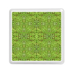Digital Nature Collage Pattern Memory Card Reader (square)