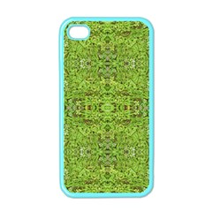 Digital Nature Collage Pattern Apple Iphone 4 Case (color)