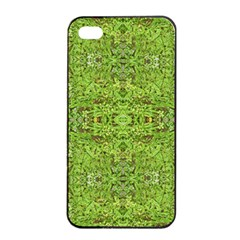 Digital Nature Collage Pattern Apple Iphone 4/4s Seamless Case (black)